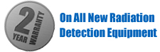 2 Year Warranty on Radiation Detection Products!